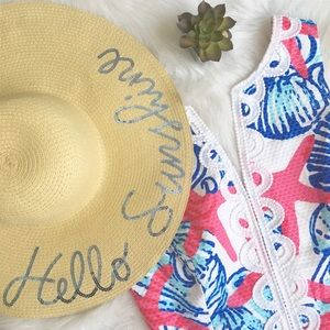 37847eeb8e81b Hobby Lobby Accessories - Hello Sunshine Straw Beach Hat